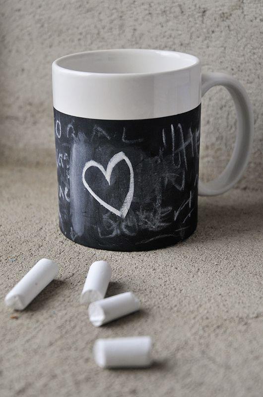 Mug with chalkboard paint #chalkboard #mug