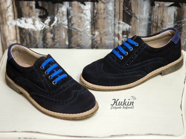 zapatos-nino-azul-marino zapatos serraje niño- calzado infantil - calzado juvenil - zapateria infantil Kukin - comprar zapatos niño online
