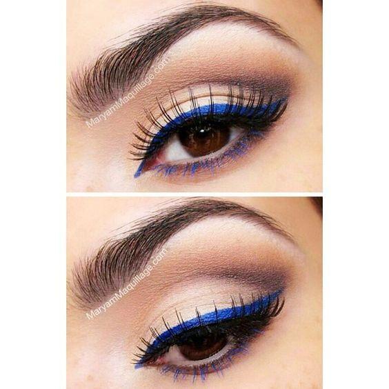 Amo delineador azul!  #make #makeup #makeupartist #makeupaddict #maquiagem #instamakeup #beauty #beautyblogger #blogger #instabeauty #fashion #instafashion #eyeliner #blueliner