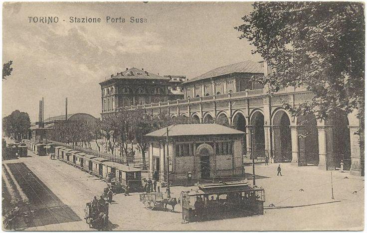 Torino - Porta Nuova lato via Nizza. La dicitura sulla cartolina indica Porta Susa