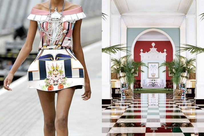 Details at Mary Katrantzou Spring 2011 | Interiors at the Greenbrier Resort in White Sulphur Springs, West Virginia