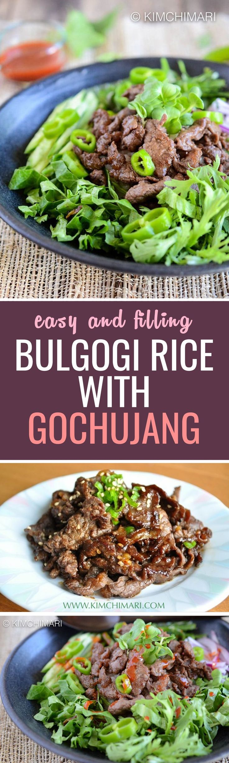 121 best korean food meats images on pinterest bar grill bbq bulgogi rice bowl with lots of korean greens forumfinder Image collections