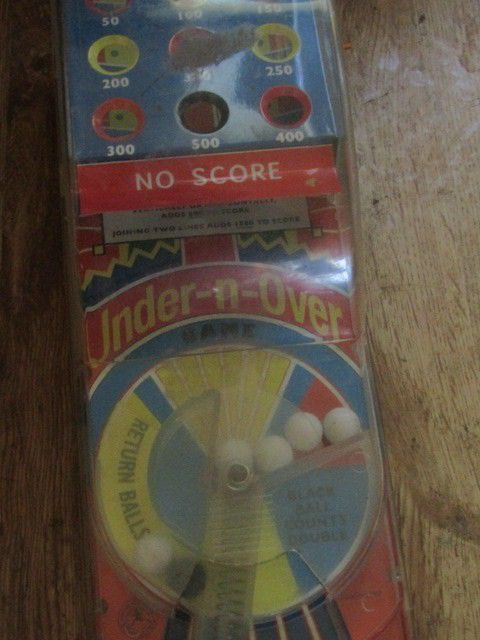 Under N Over Table Top Pinball Game Vintage