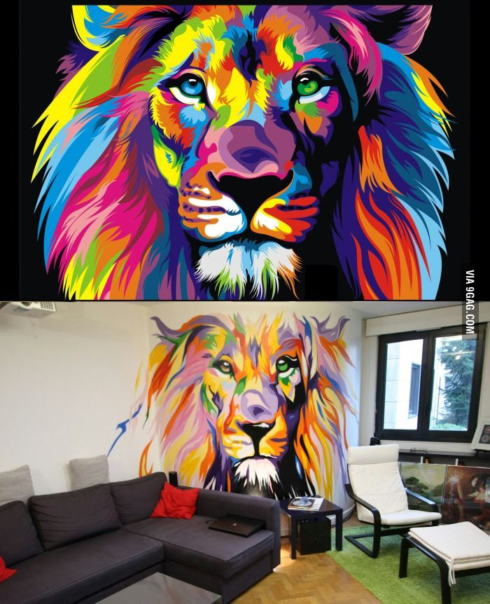 From Internet Picture To Wall Spray Painting