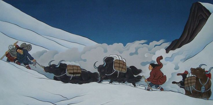 Arte tibetana tradicional por Tenzin Norbu Dolpo