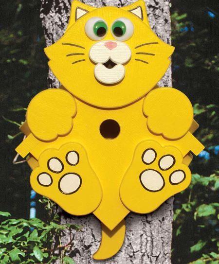 19-W3279 - Kitty Corner Birdhouse Woodworking Plan from Meisel Hardware Specialties