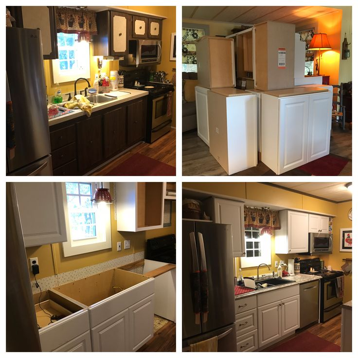 Mobile Home Kitchen Makeover With New Cabinets