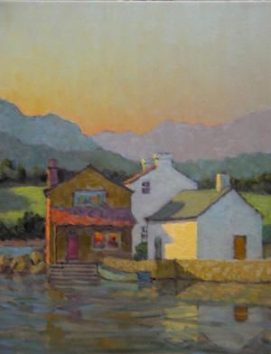 European -Henry Barnes - Irish Port 20 x 16 Oil on Canvas