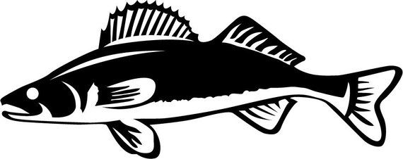 Walleye Vinyl Fishing Decal Sticker Boat Decal Tournament Etsy Fish Silhouette Fishing Decals Walleye