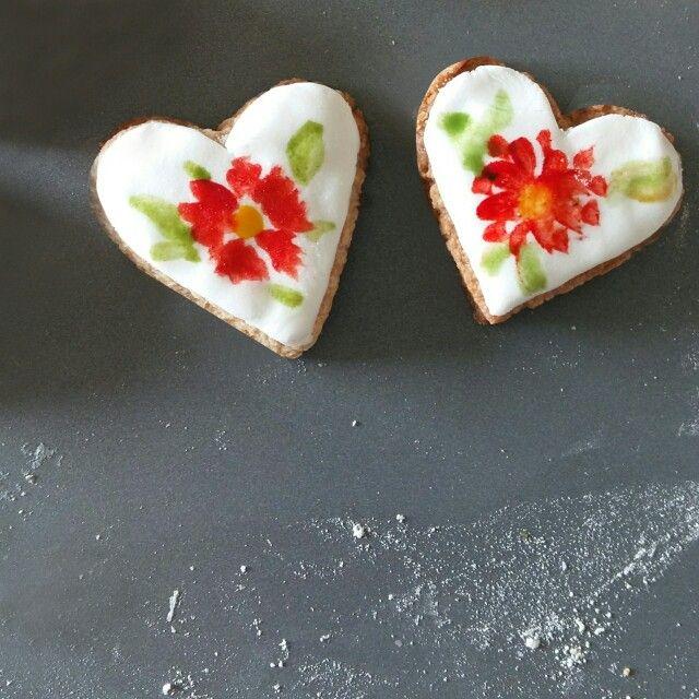 Hand painted cookies  Instagram : qmjft
