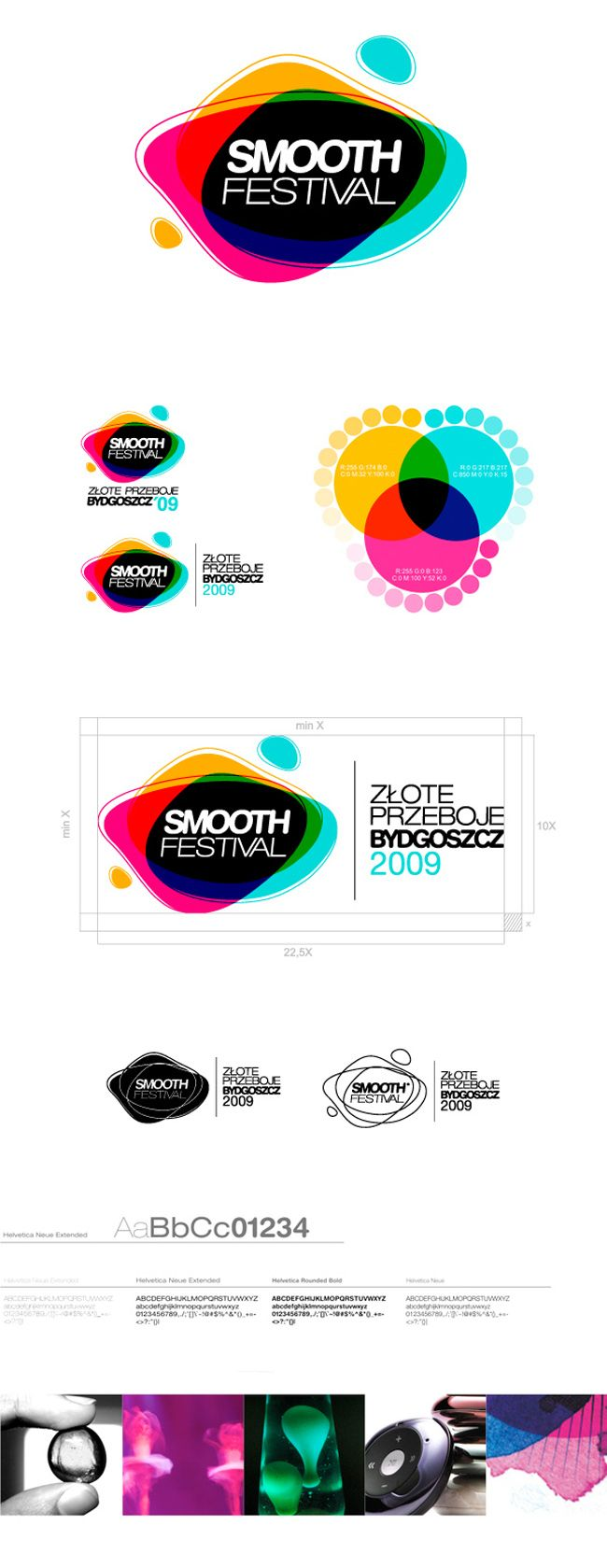 Smooth festival logo and brand identity