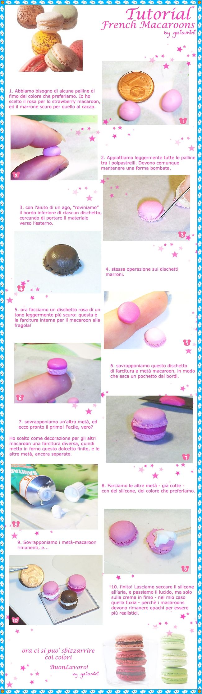 tutorial 3 - french macaroons by gaiamini.deviantart.com on @deviantART