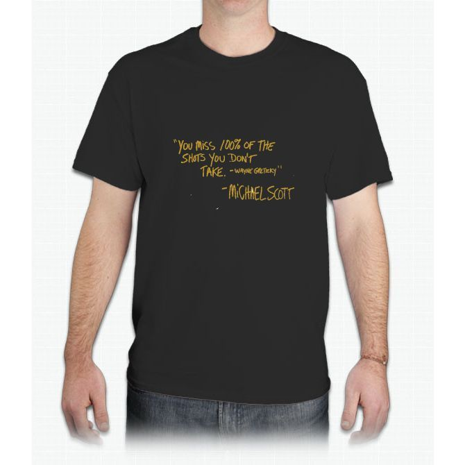 The Office Wayne Gretzky Quote Gold - Mens T-Shirt