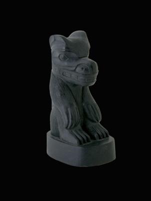 Lattimer Gallery - Ed Russ - Argillite Sculpture - Bear