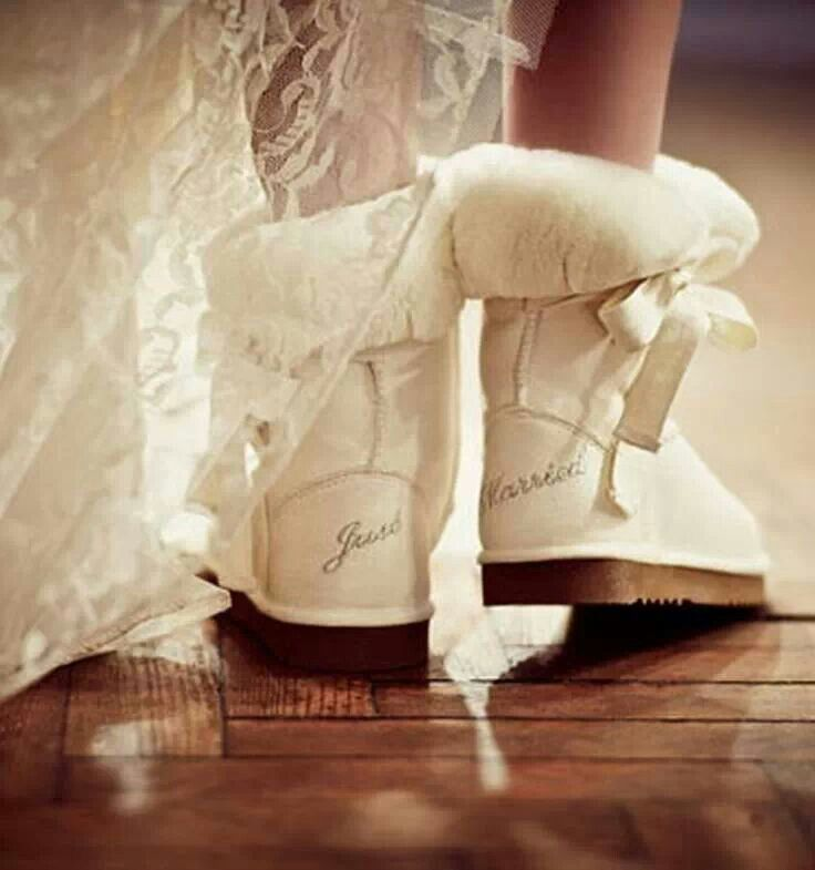 The perfect pair of warm shoes for a lovely winter wedding!