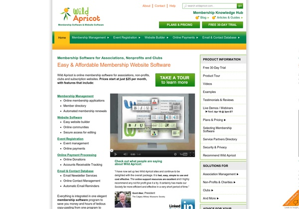 http://www.wildapricot.com Web Apps for Nonprofits & Associations.