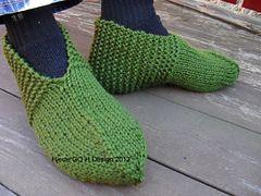 Arne og Anna`s slippers pattern by Guri Østereng Halvorsen