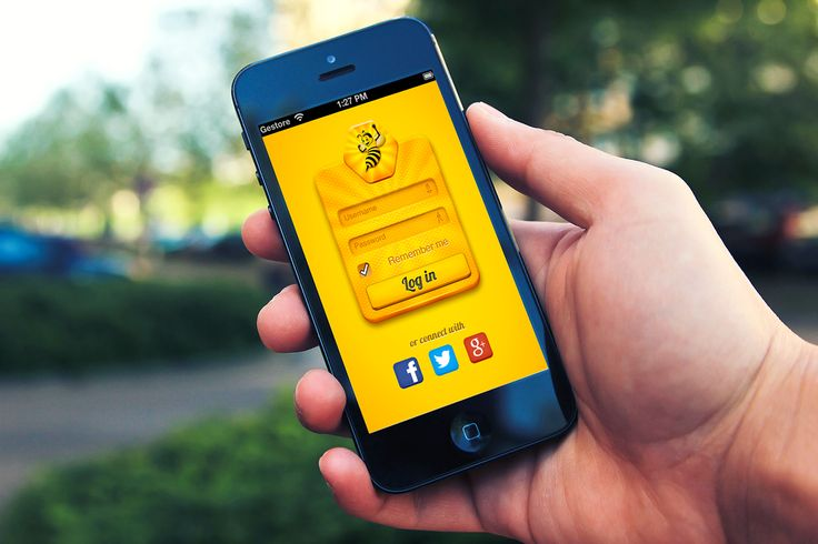 BeeThere 2.0 login page for iPhone by Hysen Drogu
