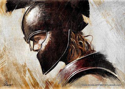 Achilles Painting | Troy- Achilles - Brad pitt - Digital Painting