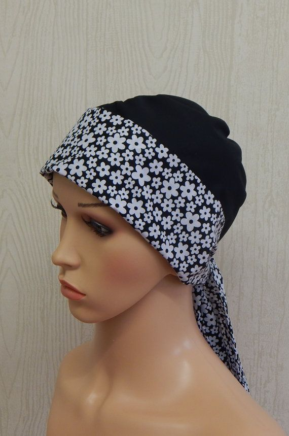 Cancer Head Wear Cotton Head Covering Chemo Head by kristine1986