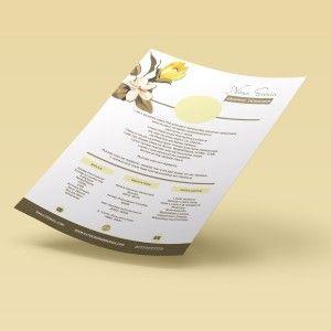Creative Flowery Resume, cv template in editable format.