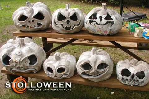 Coolest pumpkins ever.  Love to try to make these this fall...should maybe start in August.  :)