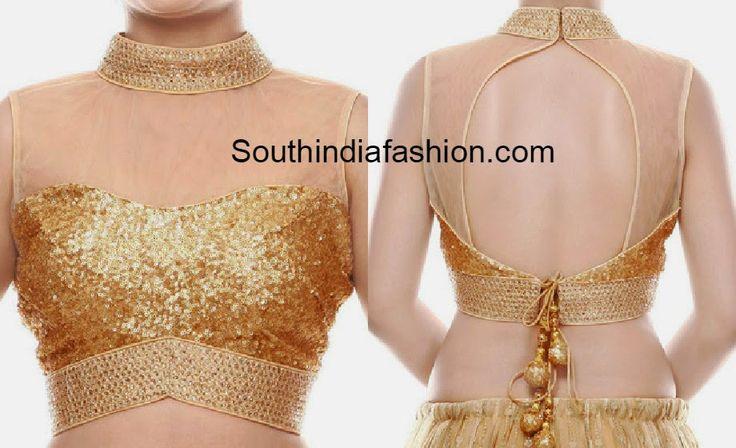 gold sequins blouse