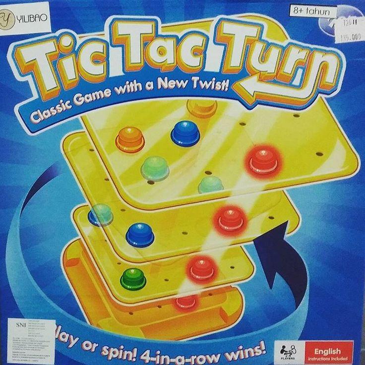 12611 Tic tac turn Rp.135.000.-  Pasanglah papan plastik sesuai petunjuk gambar, putar dan tancapkan paku warna pada papan permainan tsb hingga tersusun 1 garis warna yg sama adalah pemenangnya. Permainan seru yg bisa dimainkan oleh banyak anak ini hanya ada di www.duniaedukatif.com   #mainanedukasi #mainananak #mainancerdas #mainankreatif #mainanlogika #mainanedukatif