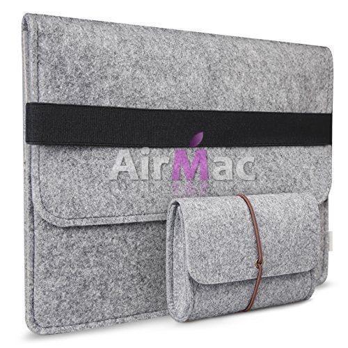 фото Чехол из войлока Macbook air 11.6/13.3. pro 13/15 Silver чехол для зарядки