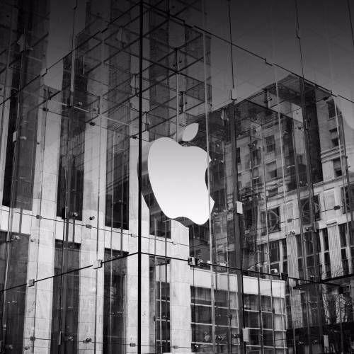 Silver Fond d écran apple logo