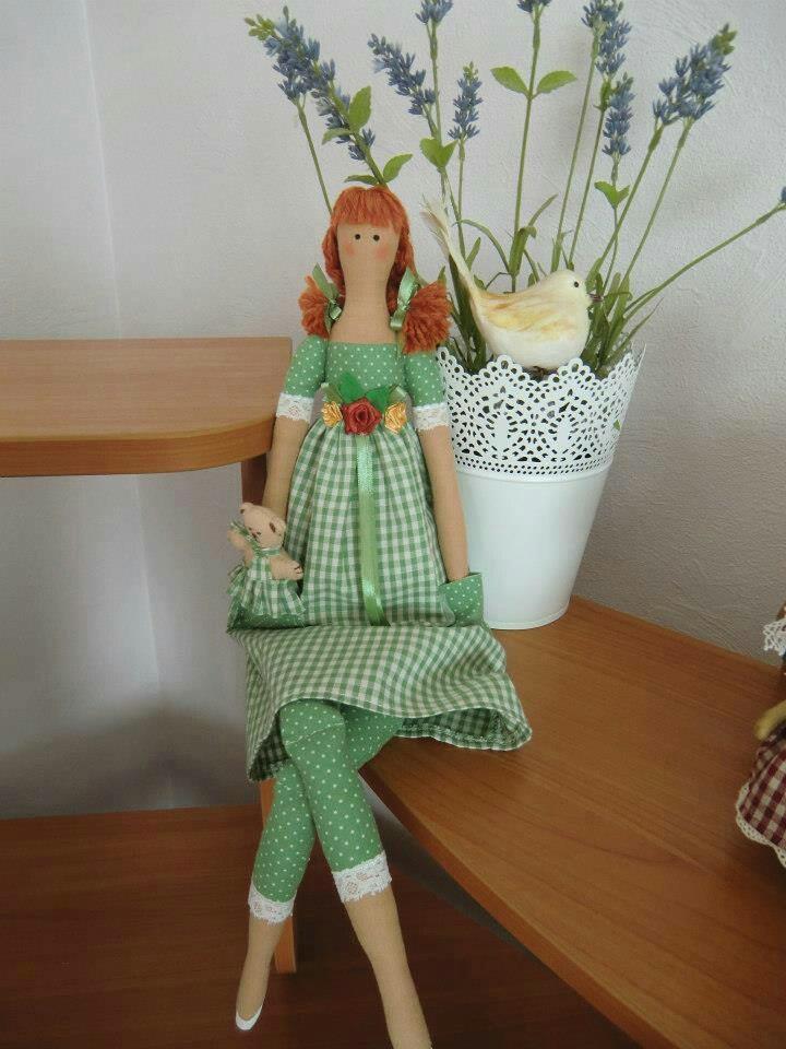 little green Tilda girl...so sweet