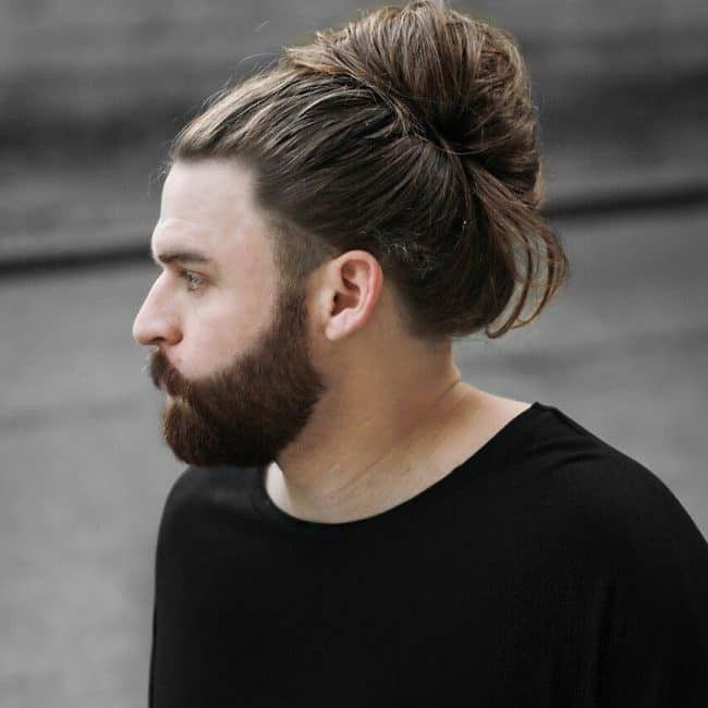 Pin On Men Bun Hairstyles