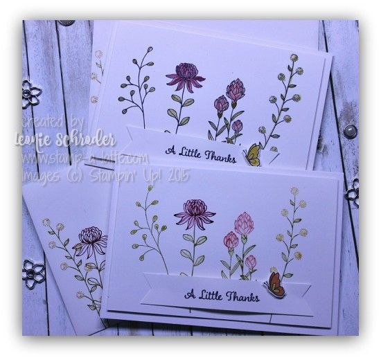 Wildflower Notes using Flowering Fields - new #saleabration set ... Contact me for your free SAB and Occasions Catalogue