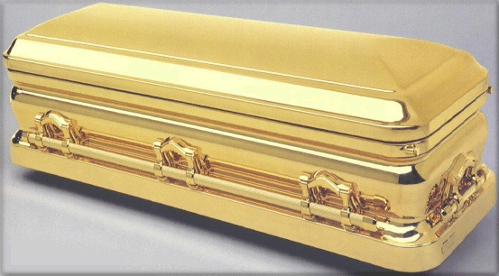 18-24 carat Pure Gold or gold-plated casket  more styles available for purchase, price from $76,000  ,mail for details 26102012-2