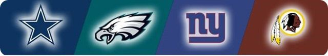 AROUND THE NFC EAST: Former Eagle DeSean Jackson headed to rival Redskins; NFC East flag - DAL NYG WAS PHI logos - The Boys Are Back website 2014