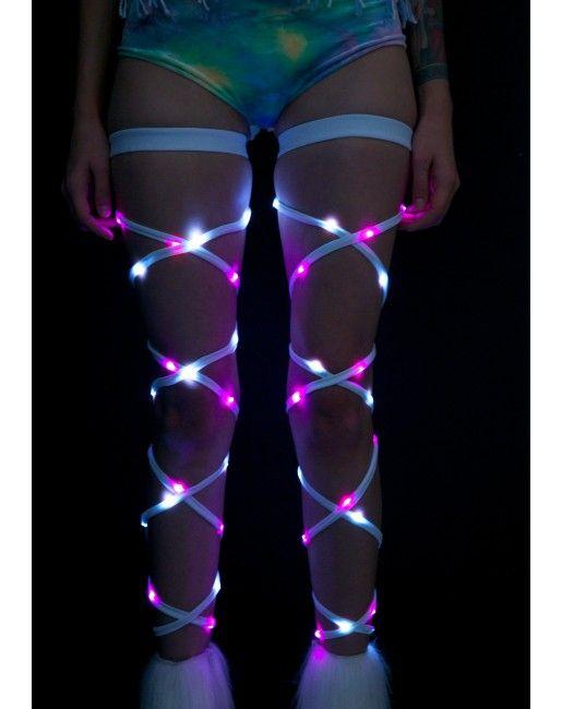 J Valentine Vivid Vixen Light-Up Leg Wraps | Dolls Kill
