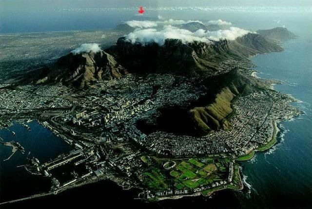 table mountain.  My childhood home is on the slopes of the mountain on the right of the picture...<3