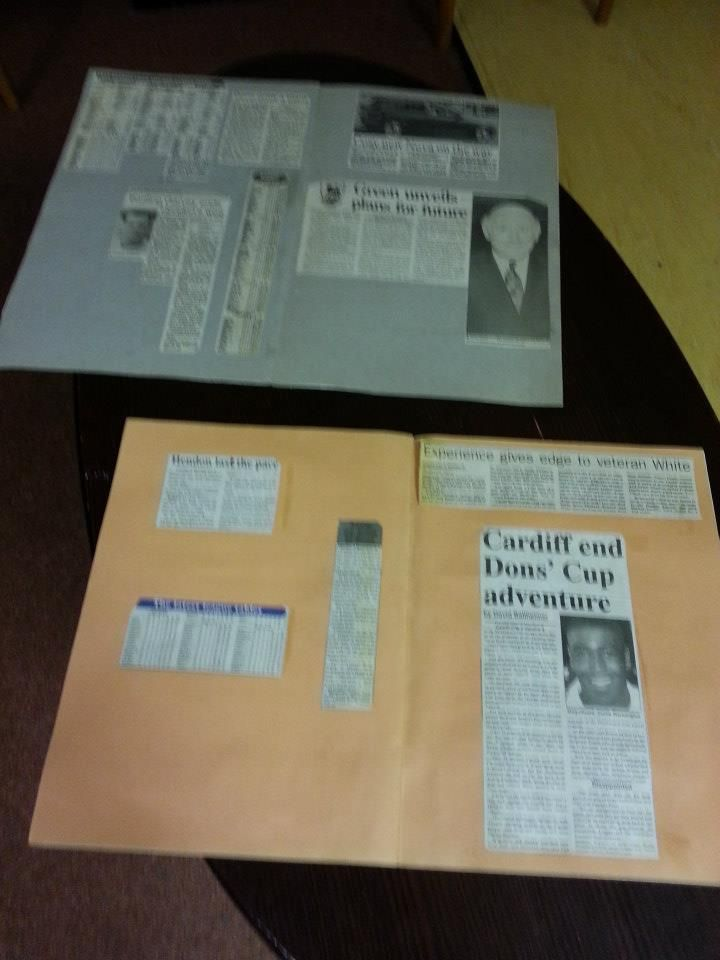 Scrapbooks featuring newspaper cuttings from Hendon's history. (NB Kids: before the internet that was what you did)
