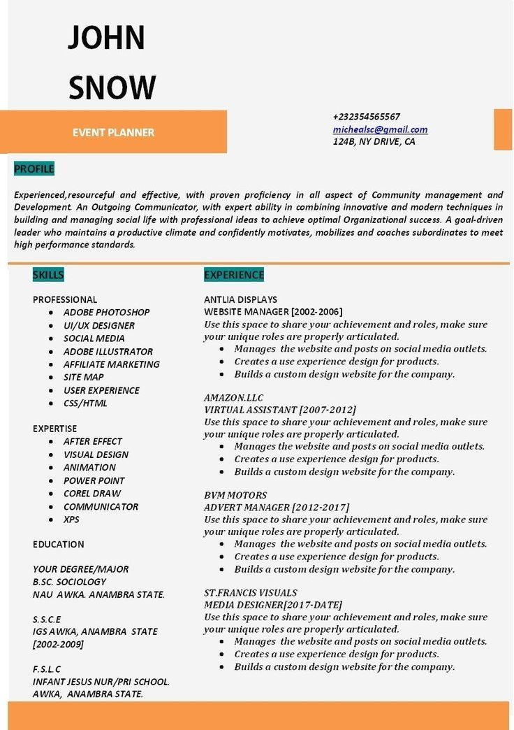 Resume Example With Headshot Photo Cover Letter 1 Page Word Resume Design Diy Cv Example Resume Tips Resume Examples Resume Tips No Experience