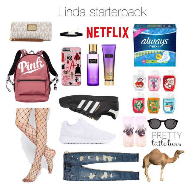"""Untitled #11"" by luc-ka on Polyvore featuring Victoria's Secret, ASOS, NIKE, adidas Originals, Hollister Co., Topshop, Thierry Lasry and MICHAEL Michael Kors"
