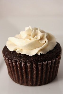 Chocolate Guiness Cupcakes with Bailey's Buttercream Frosting...Thank you, Le Petit Pierogi, for changing my life...