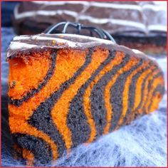 Gâteau d'Halloween facile (zebra cake) - Halloween arrivant à grands pas, je me suis creusé la tête pour trouver une idée originale à la fois facile, ...