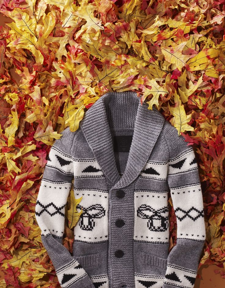A cup of cocoa tastes so much better when you're wearing a wintry, heavy knit sweater. Go on, try it.
