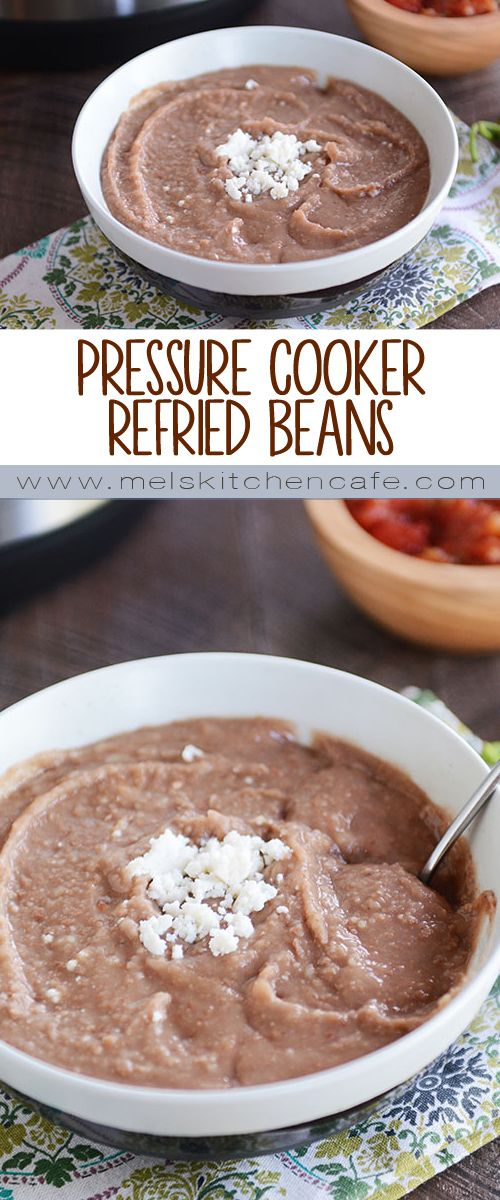 Pressure Cooker Refried Beans {No Soaking Required!}