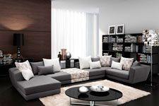 Γωνιακός καναπές Giuseppe, Σαλόνια : Καναπέδες,