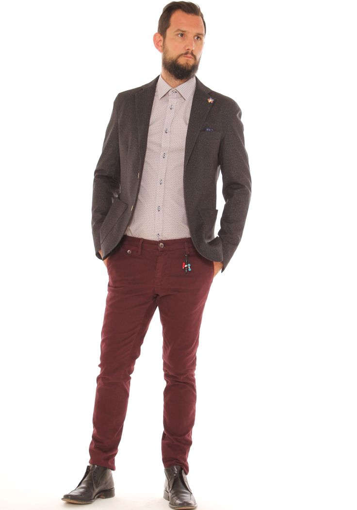 Outfit da cerimonia giacca slim,camicia fantasia,pantalone