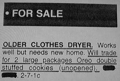 Dryer for cookies