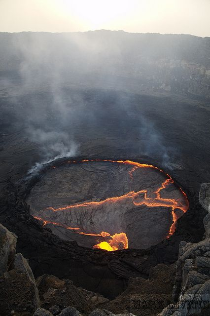 Danakil/Erta Ale eruption, Ethiopia by shuttertreks on Flickr. it seems that the doors of hell are opening all over the earth