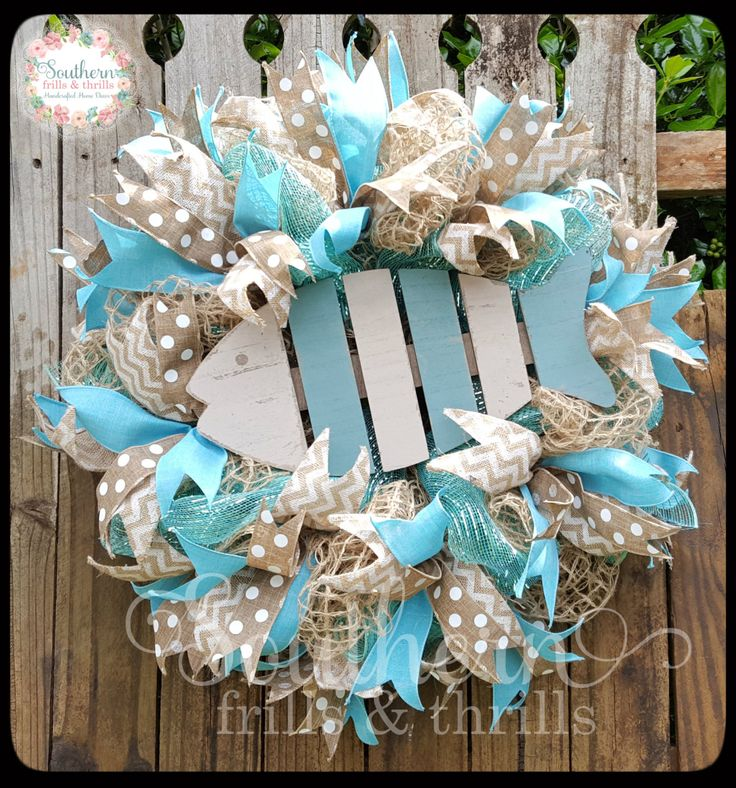 deco beach wreath and flip summer doors coastal wreaths best mesh nautical door ribbon flops