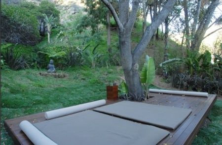 Outdoor yoga deck around a tree mv yoga meditation for How to build an outdoor yoga platform